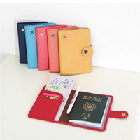 New Fashion Cute 6 Colors Air Travel Passport Cover Case Card Holder Leather Wallet = 1932494276