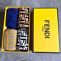 Fendi Casual Sport 100% Cotton Socks+Gift Box