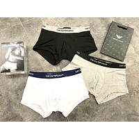 Armani Tide brand thin sports men's boxer briefs three-piece