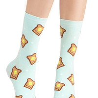 ModCloth Quirky Bread and Breakfast Socks