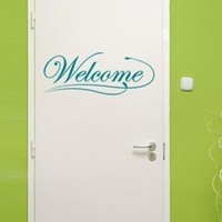 Welcome Sign Wall Decal