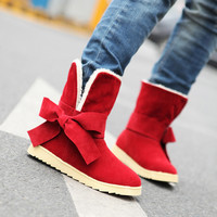 Cute Bowtie Boots for Winter