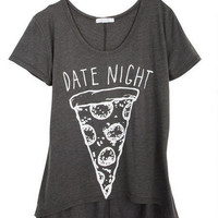 Date Night Tee - Grey