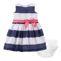 Carter's Striped Bow Dress - Baby
