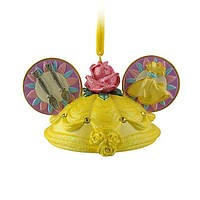disney christmas princess belle ear hat ornament new with tag