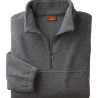 Quarter-Zip Fleece Pullover - BLACK - S 8 oz. Quarter-Zip Fleece Pullover