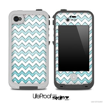 Chevron Pattern with Vintage Blue Skin for the iPhone 5 or 4/4s LifeProof Case