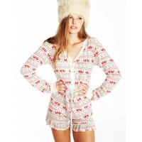 Wildfox Holiday Ye Rustic Pajama Romper - Wildfox - Designers - Southern Hippie