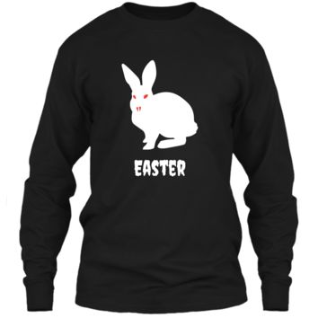 Evil Easter Bunny Rabbit Anti Holiday Pastel Goth Shirt Top LS Ultra Cotton Tshirt