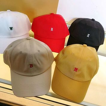 Women All-match Simple Letter Logo Classic Embroidery Baseball Cap Couple Peaked Cap Sun Hat