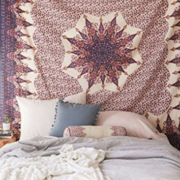 Indian Urban Tapestry,Indian Tapestry Tapestries, Hippie Tapestry, Indian Wall Hanging, Urban Bedspread, Decorative Traditional Throw Beach Throw Wall Art College Dorm