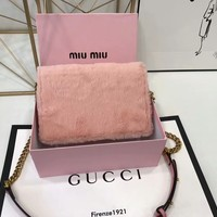 Miu Miu Women's Multi-Color Leather Shoulder Bag Handbag
