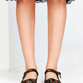 Satin Jacquard Mary Jane Flat Urban From Urban Outfitters