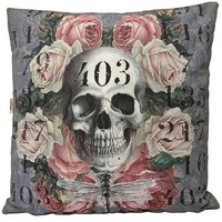 Lilac Skull Decorative 20 x 20 Inch Throw Pillow Cover Cushion Case