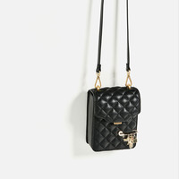 MINI CROSS-BODY BAG WITH QUILTED DETAIL