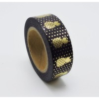 Black Pineapple Washi Tape with Metallic Gold