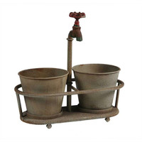 Metal Planters With Faucet Holder