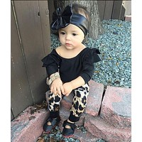 New 2016 baby girl clothes fashion cotton long sleeved t-shirt+pants kids 2pcs suit newborn cute baby girls clothing set
