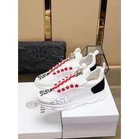 Versace Fashion White Red Black Casual Women Men Sneakers Sport Shoes