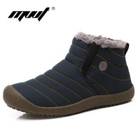 MVVT Super warm Men winter boots Unisex quality snow boots for men waterproof warm winter shoes men's ankle boots with fur