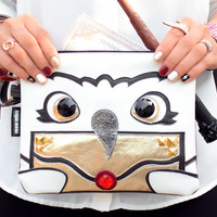 Owl Post Clutch Bag With Wristlet | Hogwarts Harry Potter Hedwig Inspired Purse | Geek Chic