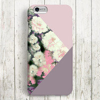 iPhone 6 Case, iPhone 6 Plus Case, iPhone 5S Case, iPhone 5 Case, iPhone 5C Case, iPhone 4S Case, iPhone 4 Case - Color Block Flower