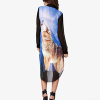 High-Low Wolf Graphic Shirt | FOREVER 21 - 2057866413