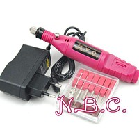 1Set Professional Electric Nail Kit Nail Tips Manicure Machine Electric Nail art Pen Pedicure Bits Nail Art Tools Kit