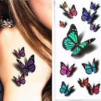 3D Butterfly Temporary Tattoo