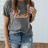 """Peachy"" Graphic Tee"
