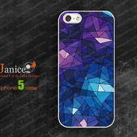 personalized  iphone cases 5,iphone 5 cover , blue cell design,unique Iphone case 5  W0037