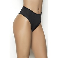 Mapale 3037 High Waist Ruched Back Panty Color Black