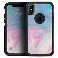 Marbleized Pink and Blue Paradise V482 - Skin Kit for the iPhone OtterBox Cases