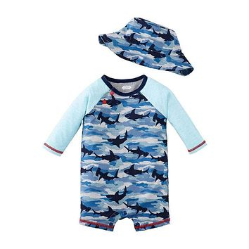 SHARK CAMO RASH GUARD 1PC