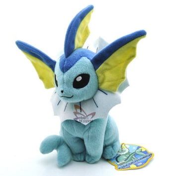 "New 7.5"" VAPOREON Pokemon Rare Soft Plush Toy Doll/PC2072"