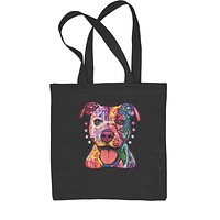 American Pitbull Graffiti  Shopping Tote Bag