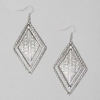 Women's Textured Triangle Earring in Silver by Daytrip.