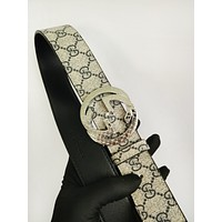 GG Gucci Classic Double G Casual Simple Wild Print Unisex Belt