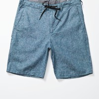 Skinny Chino Chambray Shorts - Mens Shorts - Blue