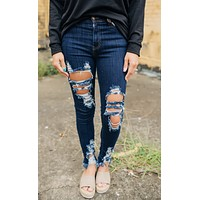 The Brooke Dark Stone Washed Skinnies