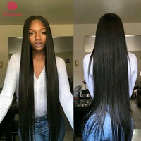 Beau Hair Brazilian Straight Hair Bundles With Closure  3Pcs/Lot Non Remy Human Hair Weave Bundles With Closure Hair Extensions