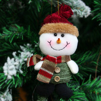 Hanging Merry Christmas Tree Santa Doll Pendants Decoration Ornaments Crafts for Home Decor Supplies