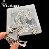1pcs UV Resin Jewelry Liquid Silicone Mold Big Unicorn Horse Resin Molds For DIY Charms Making For DIY Charms Making Jewelry