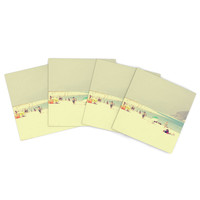 """Ingrid Beddoes """"Lazy Days"""" Summer Beach Indoor/Outdoor Place Mat (Set of 4)"""