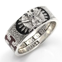 32nd Degree Scottish Rite High Quality Sterling Silver Ring