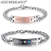 Lover His & Hers Stainless Steel Matching Couple Bracelets Stainless Steel Bracelets For Women Men DIY Jewelry