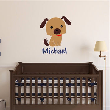 Personalized Puppy Vinyl Wall Decal 22547
