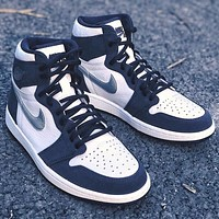 "AIR JORDAN 1 RETRO HIGH OG CO JP ""MIDNIGHT NAVY"" Basketball Shoes"