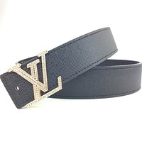 Louis Vuitton multi-style belt fashion casual business letter buckle belt