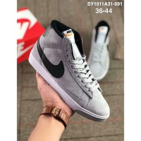 NIKE Blazer Low Trailblazer Classic Sneakers Couple Casual Skateboard Grey